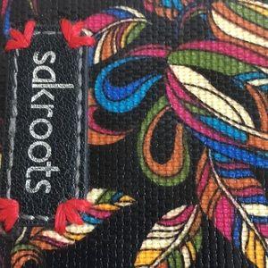 Sakroots Bags - Sakroots large zip wallet black birds leaves